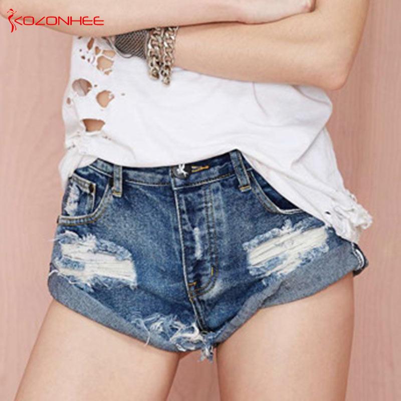 Inelastic Holes Women Denim   Short   Frazzle Style Denim   Shorts   Female Summer   Shorts   Jeans #062