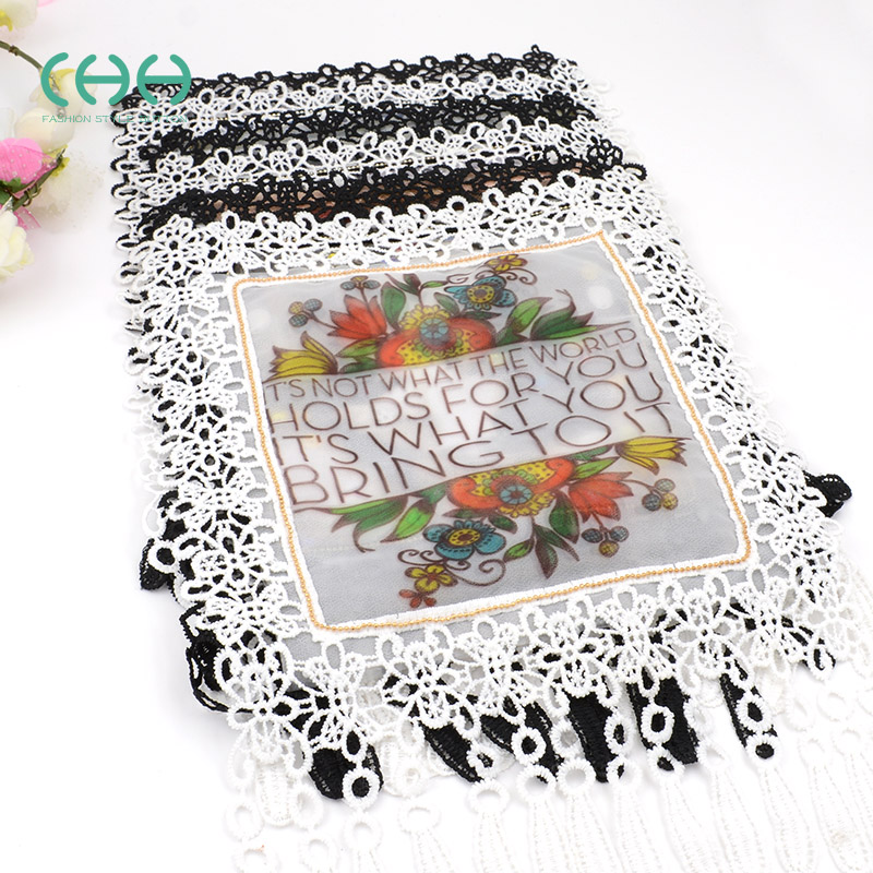 Free shipping Beautiful decoration embroidery lace fabric sew on clothes  patch stickers cartoon embroidered towel fashion lace-in Patches from Home  &