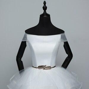 Image 5 - Real Photo White Fashion Classic Vestido De Noiva 2020 New Hot Sale Korean style Elegant Princess Sweetheart Lace Up with Sashe