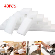 40/45Pcs White Magic Sponge Eraser Cleaning Melamine Foam Cleaner Kitchen Pad Resistant Oil Dirty Washcloth Droship 10Sep 17(China)