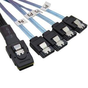 Image 4 - 0.5M Mini SFF 8087 SAS 36 broches à 4 SATA 7 broches HD câble Sata inversé