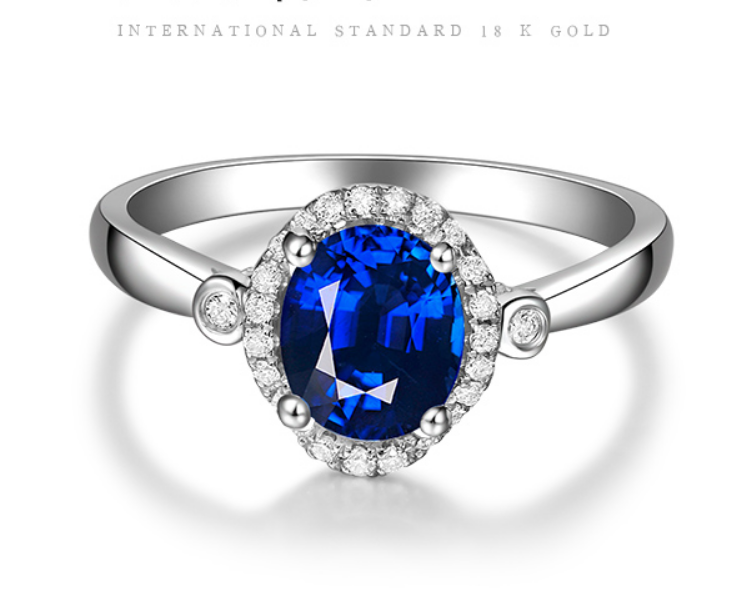 0.7 carat 925 sterling silver tanzanite synthetic diamant ring jewelry sapphire female ring US size from 4.5 to 9 (LA)