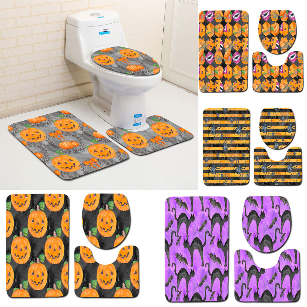 Aliexpress.com : Buy 3pcs/set Halloween Theme Bathroom Set ...