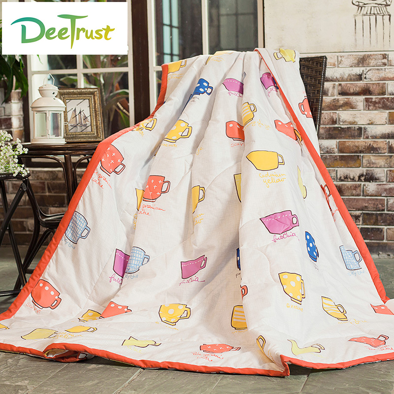 tahmeed aijaz reactive distillation Reactive Printing Summer Cartoon Blanket with Filler Superior Quality Children Quilt King Size Super Soft Throw For Bed