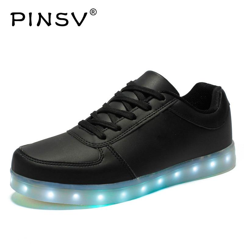 Led Scarpe Da Uomo Luminoso Luci di Scarpe Da Uomo Scarpe Casual USB Ricaricabile Chaussure Homme Sapato Masculino Formato 35-46