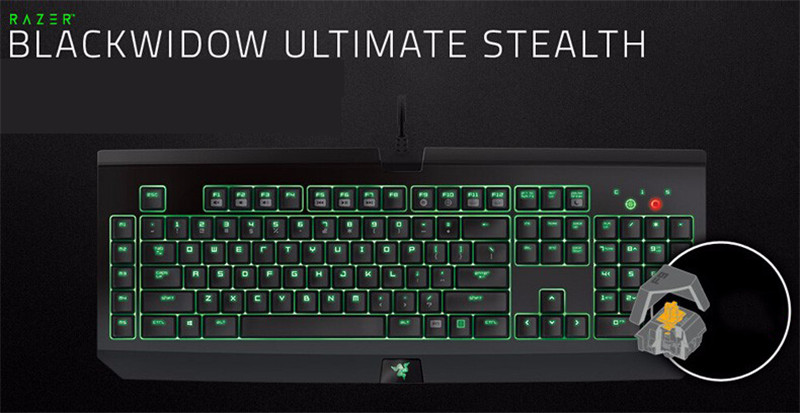 Razer BlackWidow Ultimate Stealth 2014 Mechanical Keyboard Quiet  Independent Backlight Button Wired Gaming Keyboards 104 Keys Keyboard  Online Keyboard