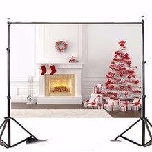 7x5ft Fotográfico Backdrops Para Estúdio de Fotografia Fotografia de Vinil pano de Fundo Tema de Natal Árvore Foto Adereços 2.1×1.5 m