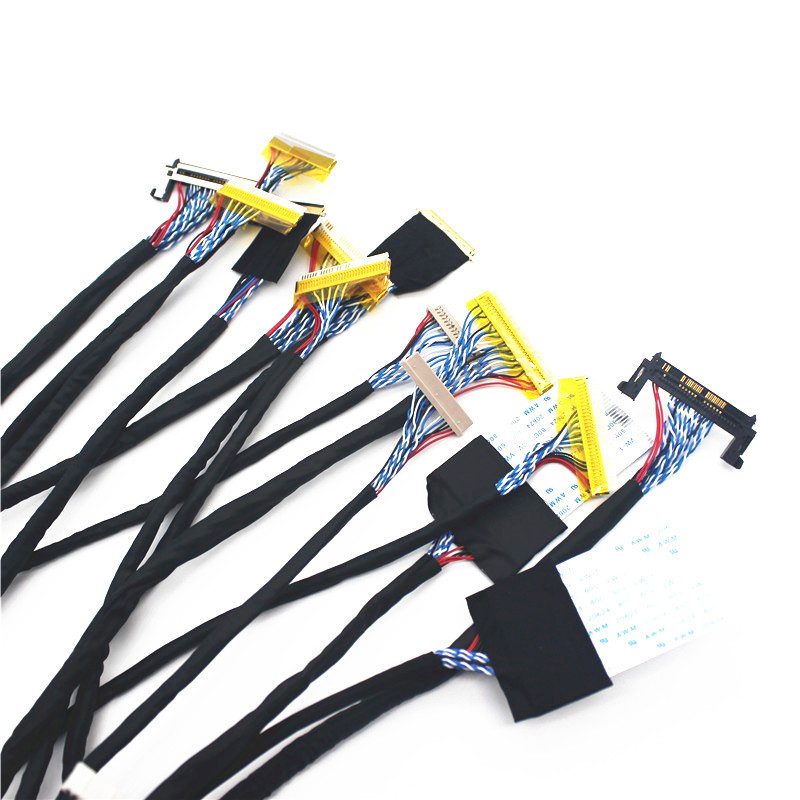 TKDMR New TV/LCD/LED Screen Tester Tool 14pcs/lot Screen Lines Lcd Panel Lampara Test Cables Support 7-55 Inch LVDS Interface