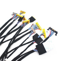 TKDMR New TV/LCD/LED Screen Tester Tool 14pcs/lot Screen Lines Lcd Panel Lampara Test Cables Support 7 55 Inch LVDS Interface