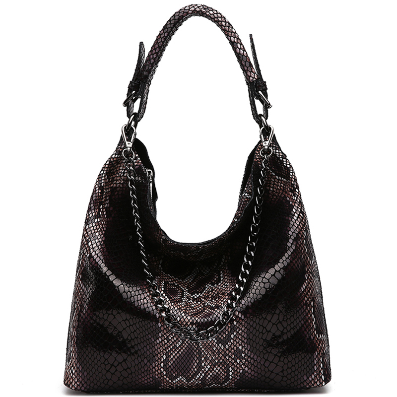 Snake Pattern Leather Handbag Snake Bag Female Messenger Bag Shoulder Messenger Bag Handbag