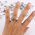 Fashion Big 100pcs Antique Silver Color Men Ring Skull Rock Rings Wholesale Rings For Men Jewelry Free Shipping