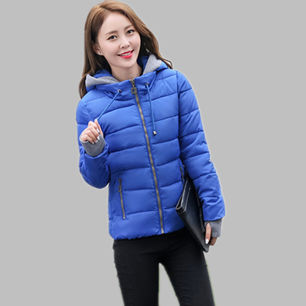 ФОТО 2017 New Women's Winter Jacket Big Size Parkas Female Short Slim Design Cotton-Padded Women Jackets And Coats 702