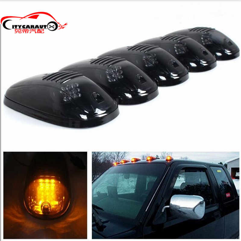 CAR STYLING EXTERIOR LED DAY DOME LIGHT CAB MARKET ROOF AMBER RUNNING LIGHTS FIT FOR ISUZU D-MAX DMAX  NAVARA D21 D22 D40 NP300