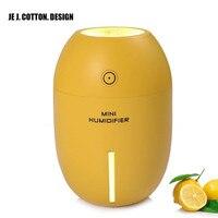 Ultrasonic Air Humidifier Mist Maker Fogger USB Mini for Home 180ML Air Purifier Freshener Car Humidifiers with Led Light