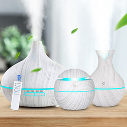 3 sztuk/zestaw aromat dyfuzor olejków eterycznych ultradźwiękowy nawilżacz powietrza cool mist oczyszczacz powietrza 7 led zmieniające kolor noc światło dla domu w Nawilżacze powietrza od AGD na