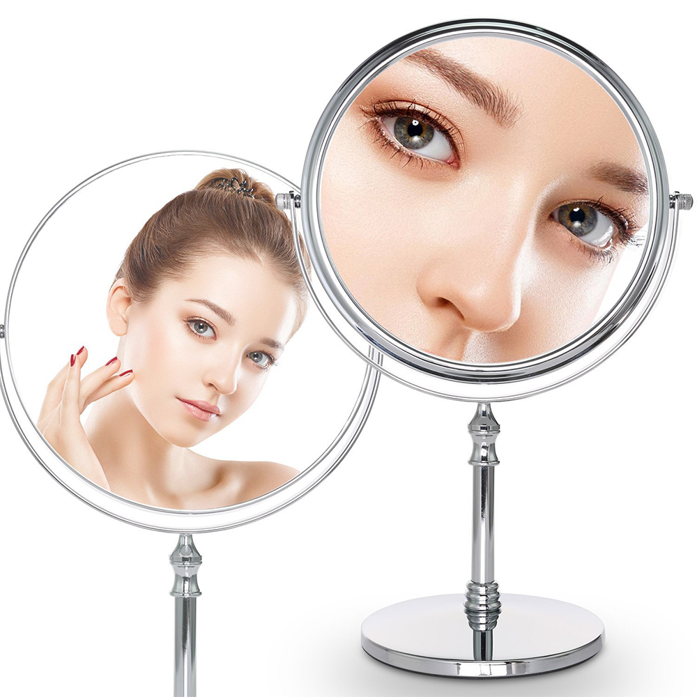 Cosprof 8 Inch Diameter 10X Magnifying Makeup Mirror Smooth 360 Degrees Rotation Dual Side Mirror