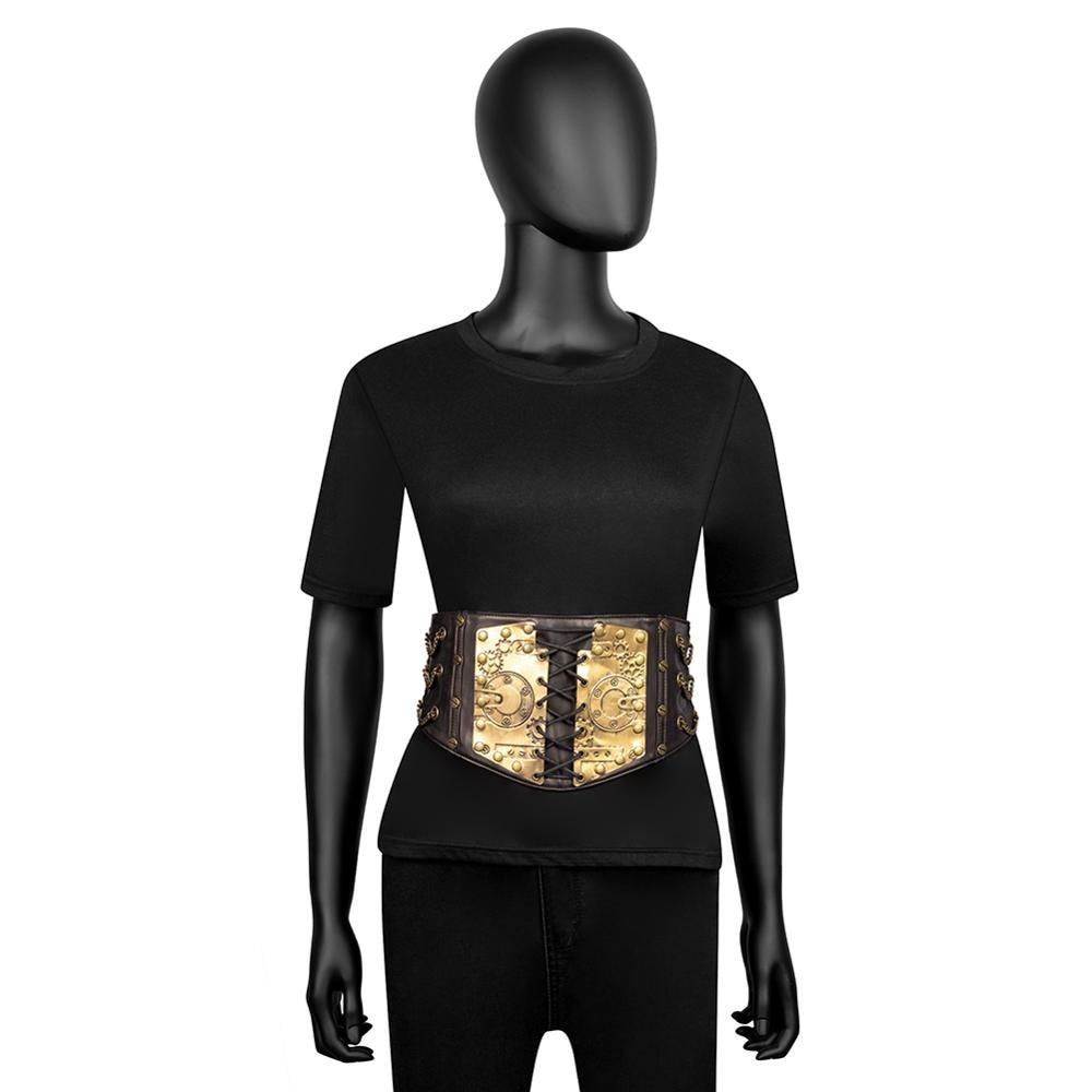 Image 2 - Gear Duke fashion belts Women Ladies Gothic Steampunk Cincher Lace up Waistband vintage Waist Cincher classic wide Elastic Waist-in Men's Belts from Apparel Accessories