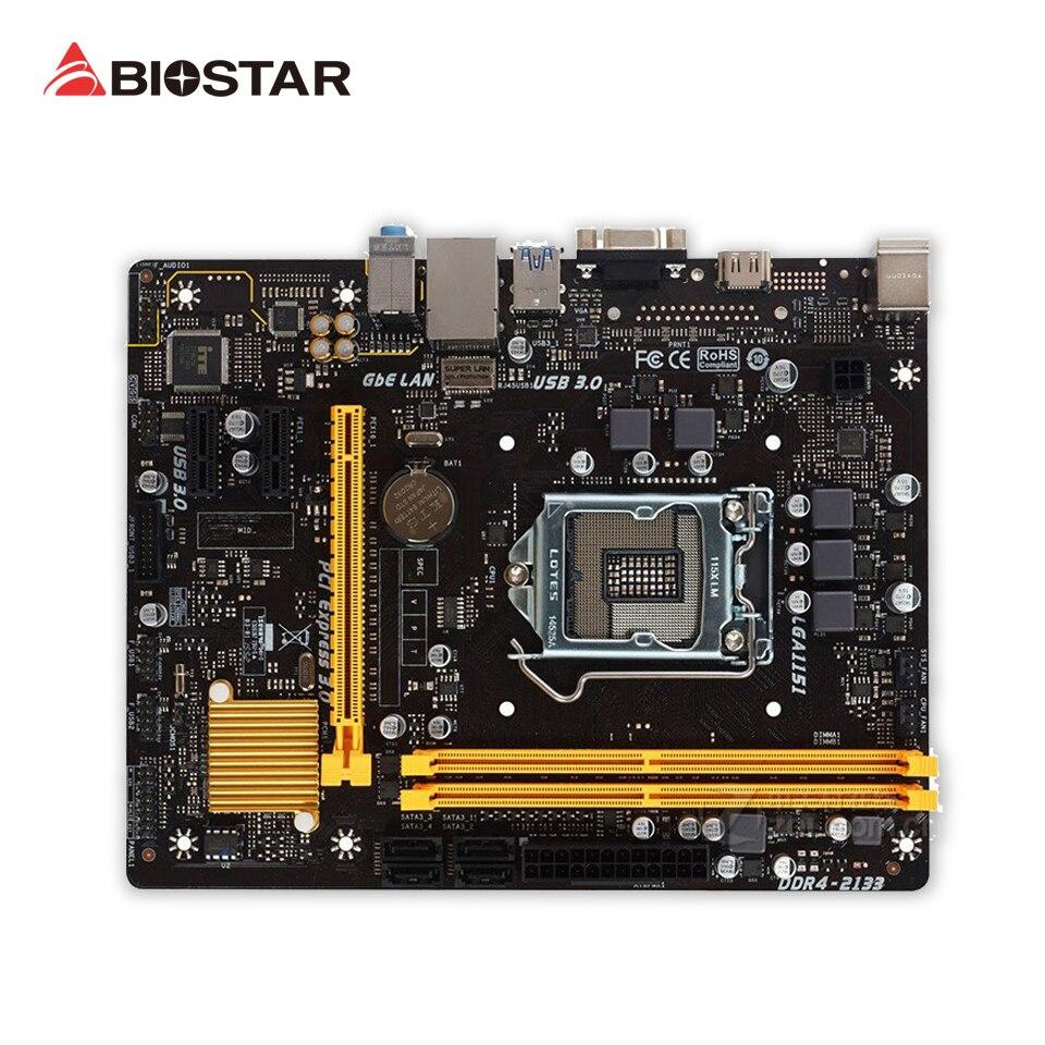 Original BIOSTAR H110MH PRO D4 Desktop Motherboard H110 LGA 1151 DDR4 32G SATA3 USB3.0 Micro ATX 100% Fully Test biostar new motherboard h110mh pro d4 for intel lga i3i5 i7 7700 6600 6700 7500 k cpu micro atx 1151 ddr4 32g computer mainboard