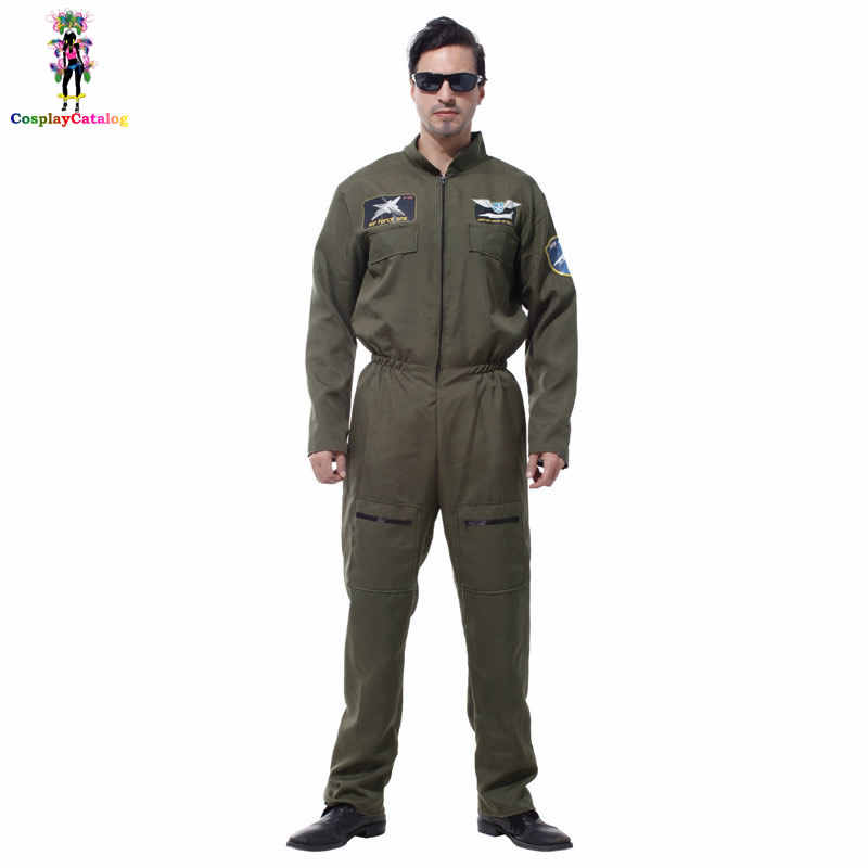 26a5664145b Detail Feedback Questions about Mens Pilot Aviator Top Gun Paratrooper Flight  Suit Halloween Policeman Special Forces Costumes Easter Carnival Party ...