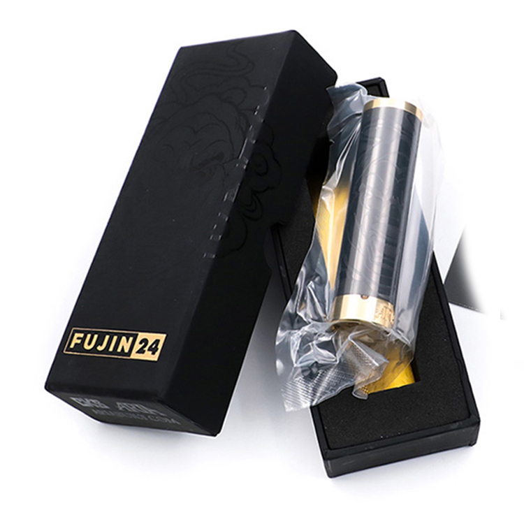 Limited Edition Fujin 24 Mod Stainless Steel Mechanical Vape Mod 24mm 24k Gold Plated Firing Button