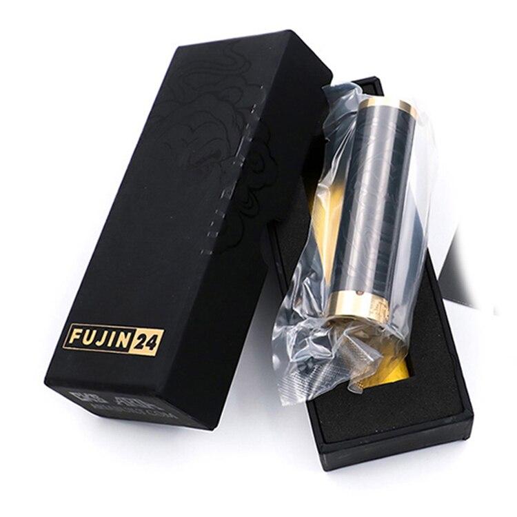 Édition limitée Fujin 24 Mod acier inoxydable mécanique Vape Mod 24mm 24 k plaqué or bouton de cuisson Fit 18650 batterie