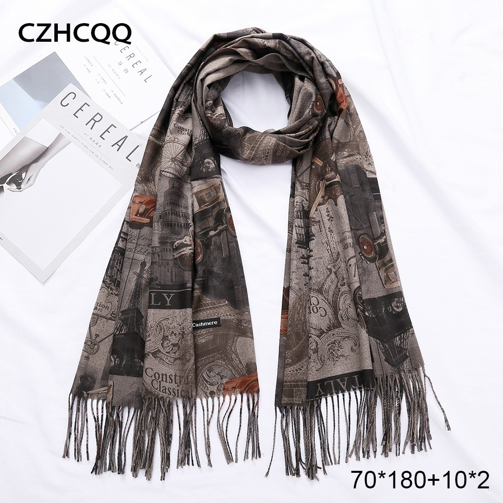 Long Cashmere Scarf Women Man Foulard Femme Pashmina Neckerchief Neck Men Plaid Wool Scarf Male Blanket Women Scarf For Ladies