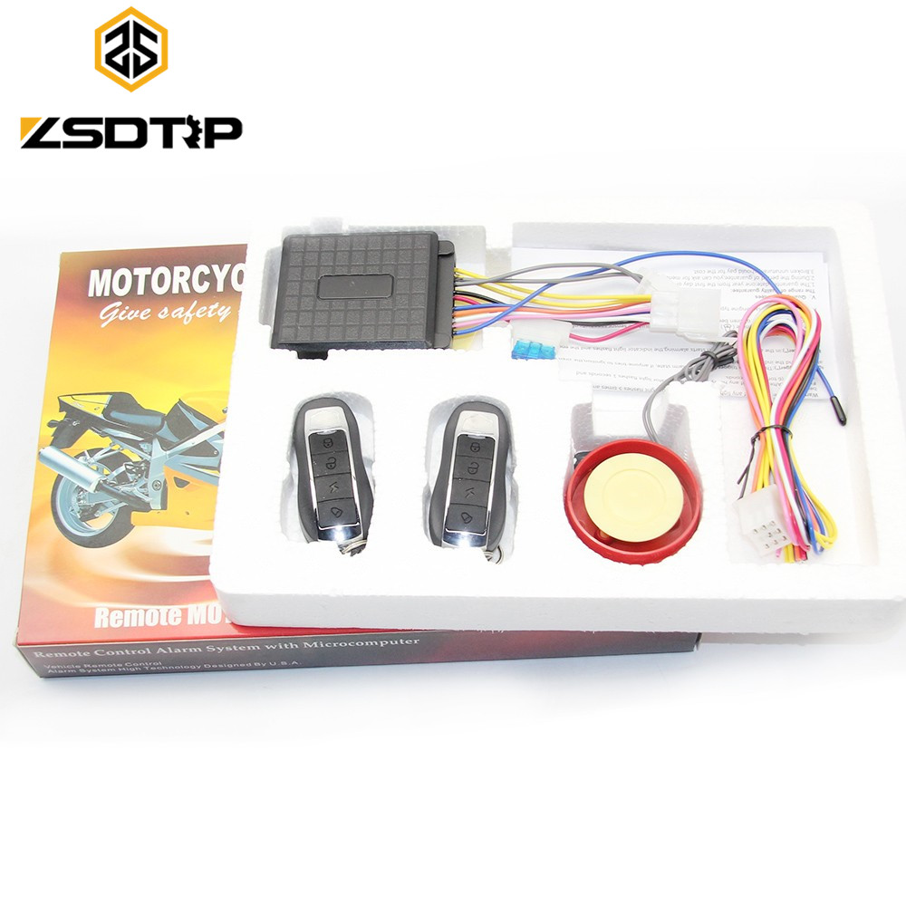 ZSDTRP Hot Selling Motorcycle Alarm System Anti-theft Security Alarm System Remote Control Motorcycle Accessories