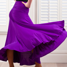 Испанские женские танцевальные костюмы фламенко фиолетовые юбки для фламенко бальные платья для латинских танцев