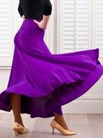 Spain women flamenco Dance costumes purple flamenco skirts ballroom latin salsa dancing dress skirt dancewear