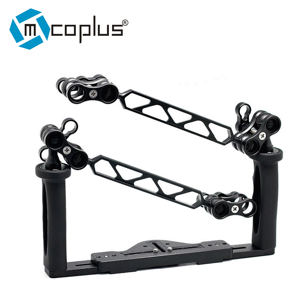 Underwater Tray Housings Arm Stabilizer for Canon Nikon Sony Fujifilm Olympus Gopro Action Camera with 4