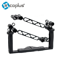 Underwater Tray Housings Arm Stabilizer for Canon Nikon Sony Fujifilm Olympus Gopro Action Camera with 4 Butterfly Ball clam