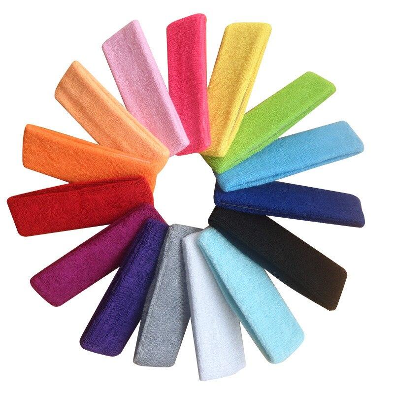 Wholesale Elastic Sports Hair Bands Women Yoga Running Fitness Wash Face Makeup Hair Band Towel Sweat Headband Hairbands
