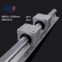 Axk 2 Blokları Sbr16uu Ile Bir Set Sbr16 1200mm Doğrusal Hareket Kılavuzu Desteklenen Ray Sbr Lineer Mili 16mm Cnc için