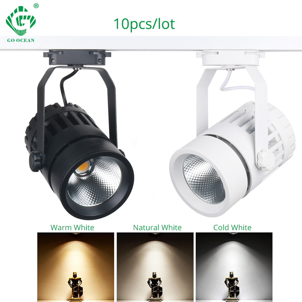 30 W 10 unids MAZORCA LED luz de la pista luces de carril de aluminio tienda de ropa accesorios de exposición de Windows lámparas de iluminación de foco