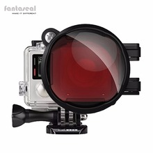 Fantaseal 3in1 GoPro Hero 4 Plongée Lens Filter, rouge Sous-Marine Couleur Correction Filtre + 16X Macro Objectif pour Bleu/Tropical D'eau