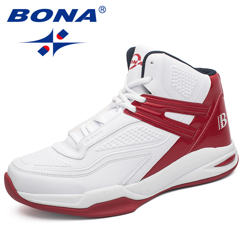 BONA New Arrival Popular Style Men Basketball Shoes Outdoor Jogging Sneakers Lace Up Men Athletic Shoes Light Soft Free Shipping