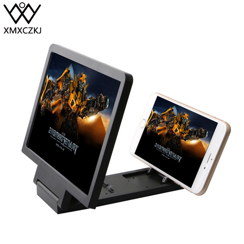 Xmxczkj Pu Leather Mobile Cell Phone Case Screen Enlarged Expander Magnifier 3d Amplifie Stand For Folding Ring Desk Holder Car Mobile Phone Holders & Stands Mobile Phone Accessories
