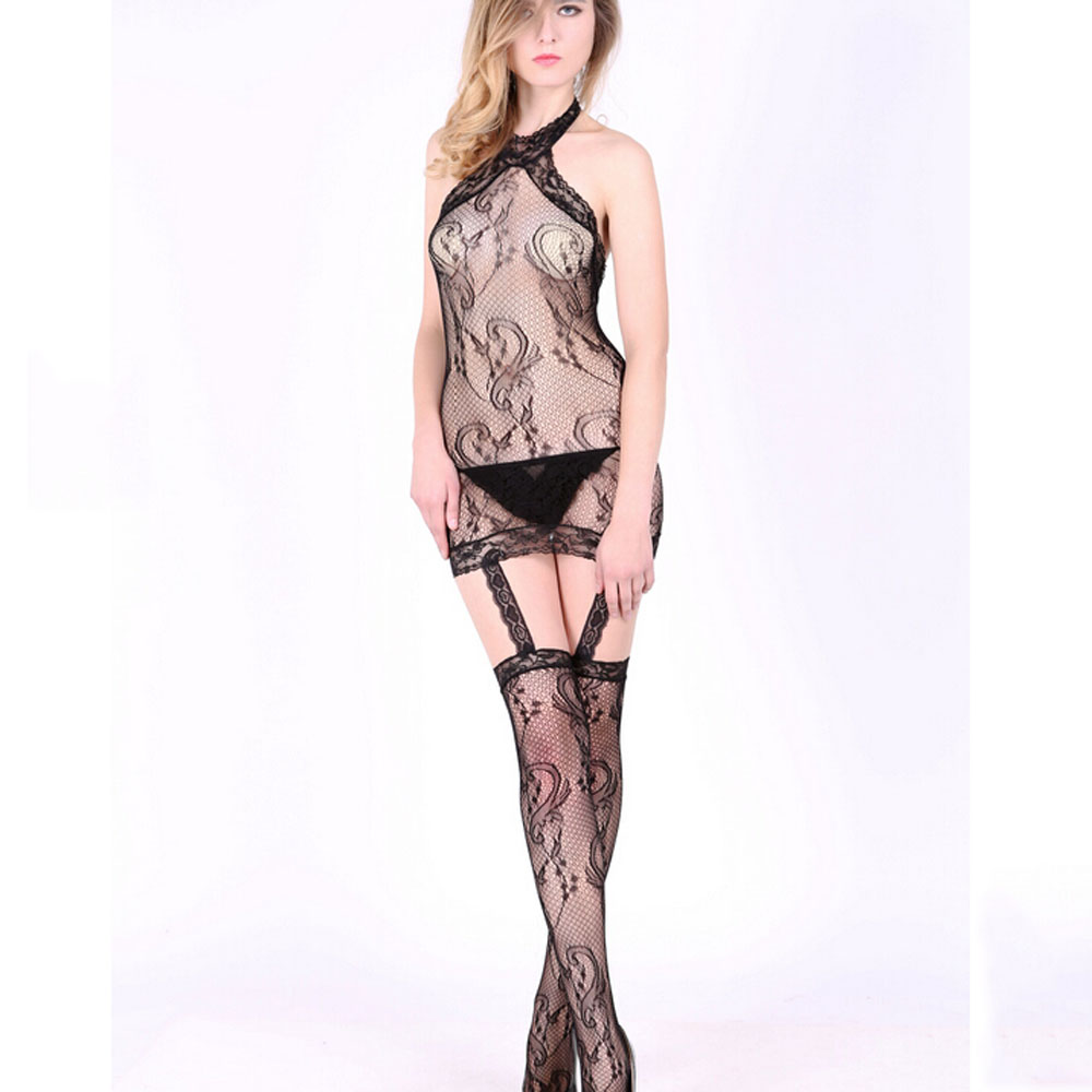 Sexy Lingerie Lace Black Temptation Televised Bosom Hollow Out Backless Erotic Lingerie Jacquard Costume Women font
