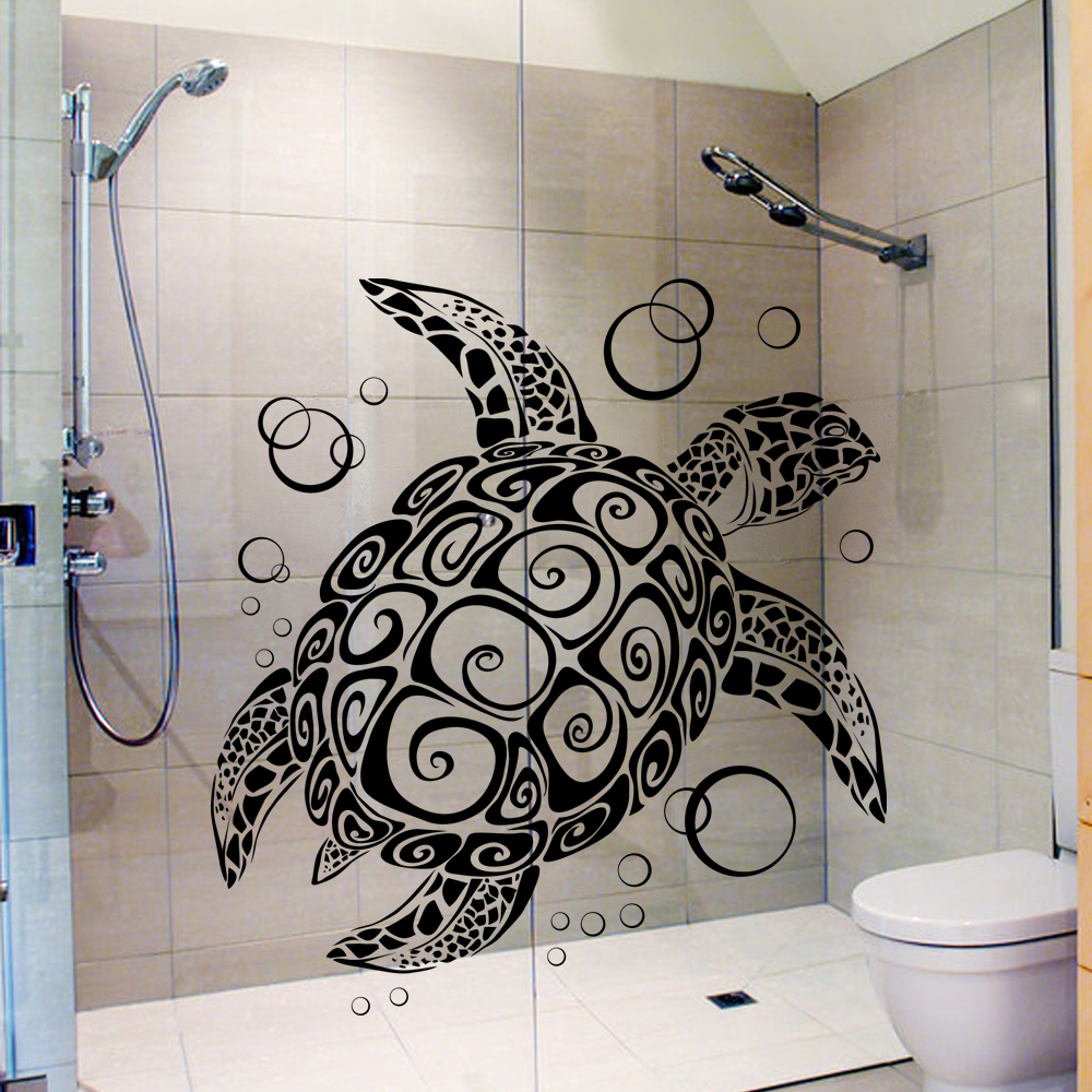 Sea Turtle with Bubbles Turtle Vinyl Wall Decal Vinyl ...