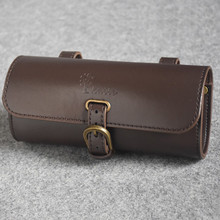 KAILE Waterproof Retro Bicycle Bag PU Brown Leather Classic Bike Saddle Accessories