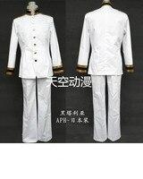 Free Shipping Anime Axis Powers Hetalia Cosplay Japan Honda Kiku Cos Halloween Full set 2in1(Top+Pants)