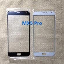 Черный / белый высокое качество передней панели для MEIZU PRO 5 MX5 PRO X5 PRO мобильный телефон внешний экран стекла объектива замена часть