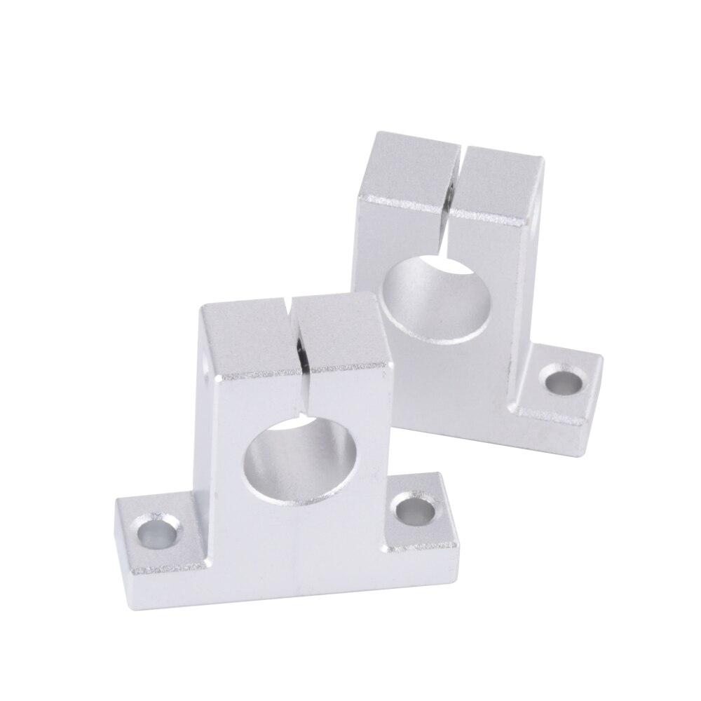 4pcs/lot SK16 Linear Rail Vertical Bearings Shaft Guide Support Bracket 48x16x44mm 12162025303540 linear guide rail linear guide rail support bracket aluminum