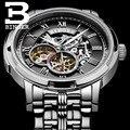 Часы BINGER Top  мужские  Роскошные  брендовые  Sapphire  Skeleton Tourbillon  автоматические  механические