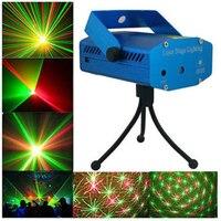 1PCS LED Laser Light AC110V 220V Miniature Holographic Laser Star Projector Stage Lighting DJ Club Bar