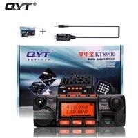 Qyt kt-8900 kt8900 vhf uhf移動無線トランシーバkt8900ミニ車バス陸軍携帯vhf双方向ラジオステーション+ usb cd