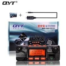 Qyt kt-8900 kt8900 vhf uhf de radio móvil transceptor kt8900 mini coche autobús ejército vhf radio de dos vías móvil estación + usb cd