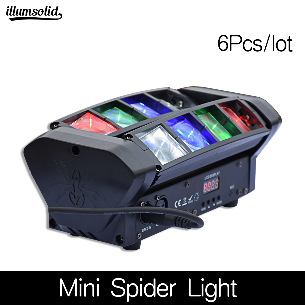 RGBW Mini LED Spider Beam Light LED 8x6W Moving Head Stage Light DJ Disco 6Pcs/lotRGBW Mini LED Spider Beam Light LED 8x6W Moving Head Stage Light DJ Disco 6Pcs/lot