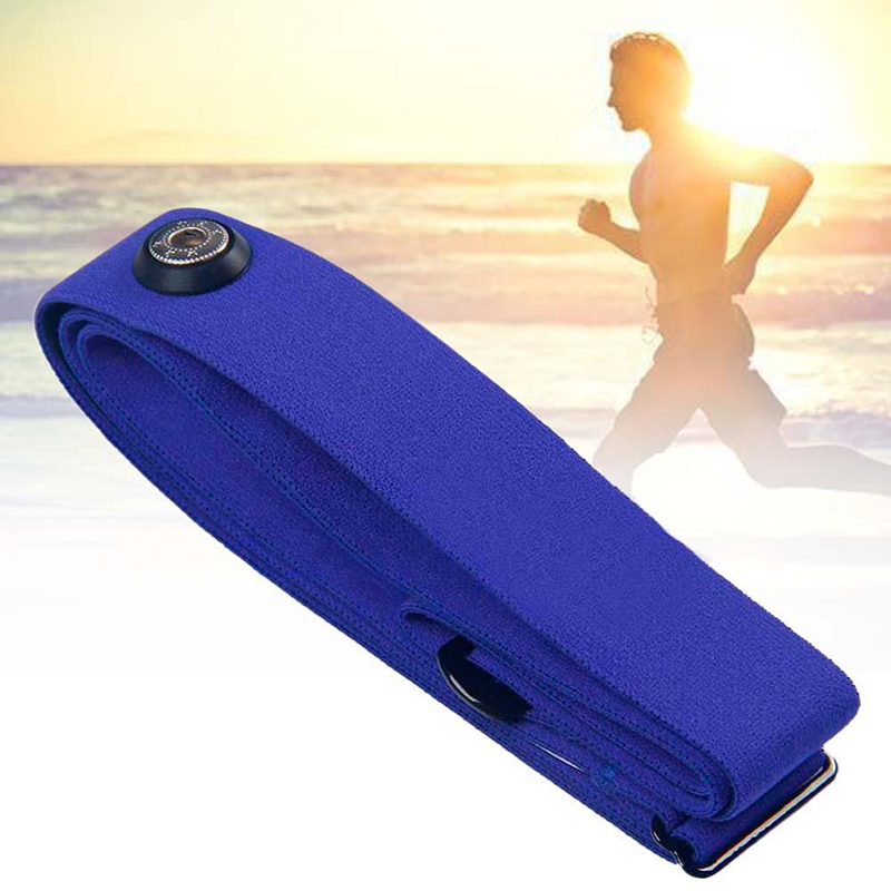 Blue Elastic Belt Tie Band Heart Rate Chest Belt untuk Garmin Wahoo Polar Sports Running Heart Rate Monitor untuk Bluetooth 4 0