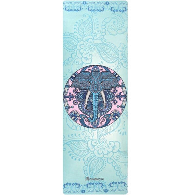 Caoutchouc naturel + daim 4.5mm d'épaisseur saine absorbant la sueur tapis de Yoga confortable antidérapant Fitness tapis en caoutchouc tapis d'exercice de Gym